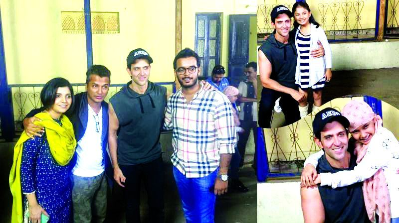 Hrithik and Vikram with the cast of the movie