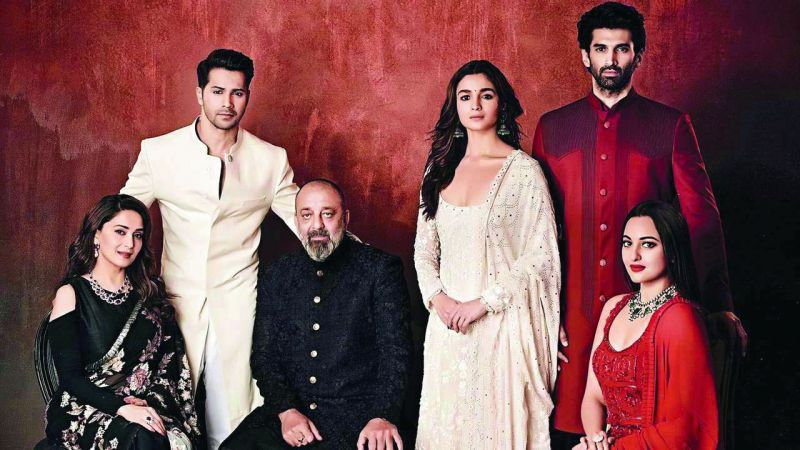 The cast from the movie Kalank, where the protagonist (Varun Dhawan) fights the bad guys.