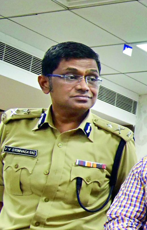 Additional Commissioner of Police, Hyderabad, Mr V.V. Srinivasa Rao will be incharge commissioner of police Hyderabad.