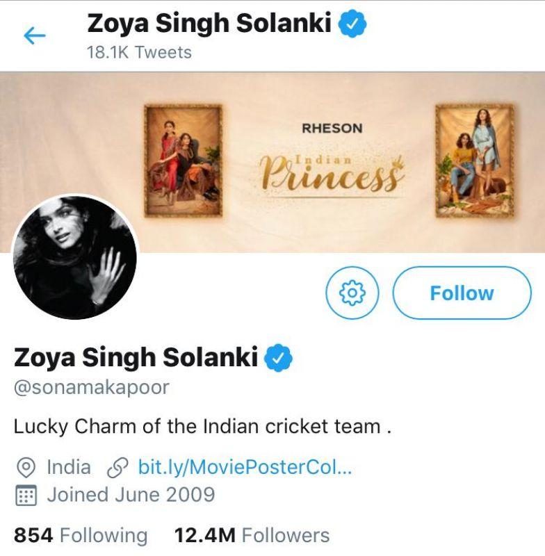 Sonam Kapoor's Twitter account