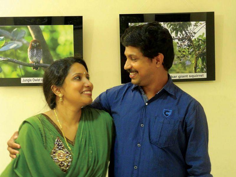 Aparna with her husband Ashok.