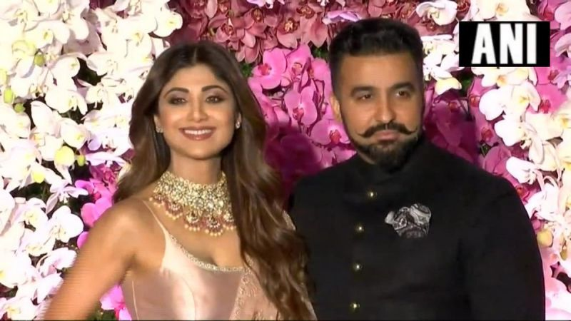 Shilpa Shetty Kundra with husband Raj Kundra. (ANI Photo)