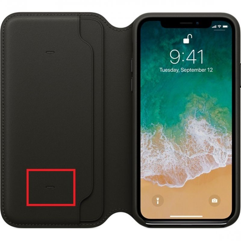 brand new f58a4 44ba7 Watch Out! Apple's iPhone X leather folio case can kill your credit ...