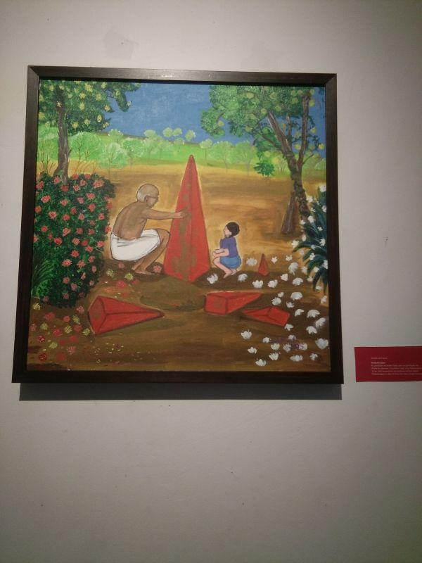 Painting titiled 'Thrikkakarappan'.