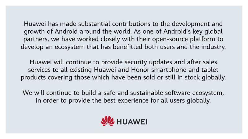 Huawei statemet