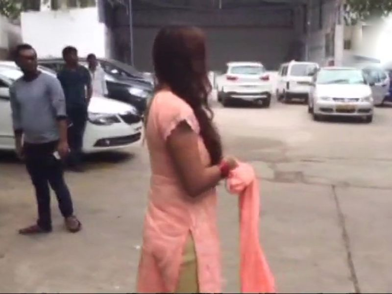 Sri Reddy protests, strips at the Film Chamber