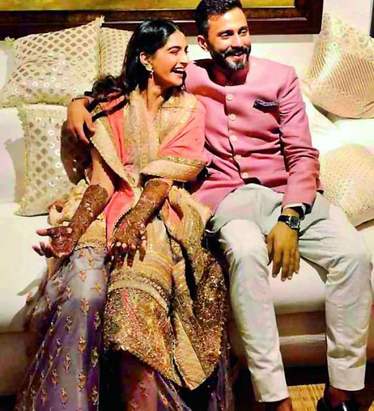 Sonam Kapoor with her husband Anand Ahuja