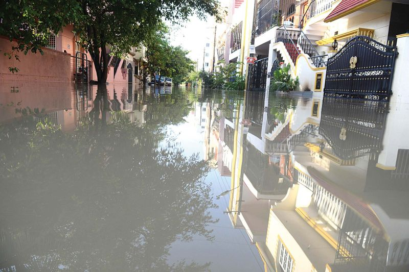 Another flooded locality on Bannerghatta Road