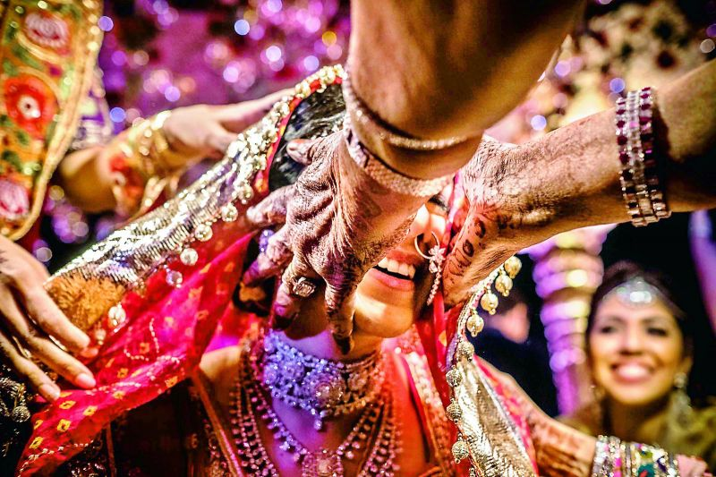 Picture of a bride taken by Sephi at an Indian wedding.