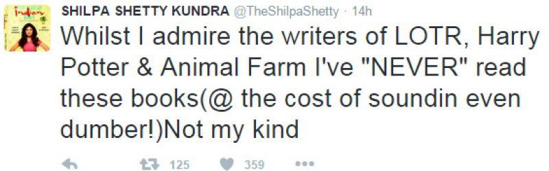 Shilpa Shetty gets trolled on Twitter for Animal Farm blunder