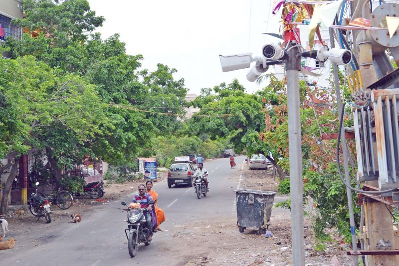 CCTV cameras installed in Chitlapakkam area.