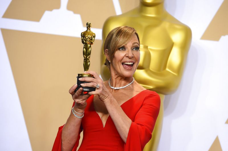 Allison Janney, winner of the award for best performance by an actress in a supporting role for I, Tonya. (Photo: AP)