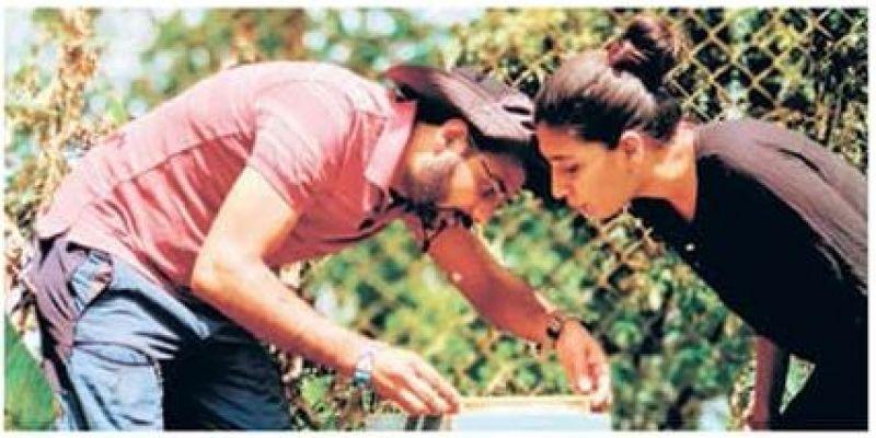 Vishal and Aditi Mehta at  their Tat Tvam Asi Organic plantation near Bhadra Tiger Reserve.