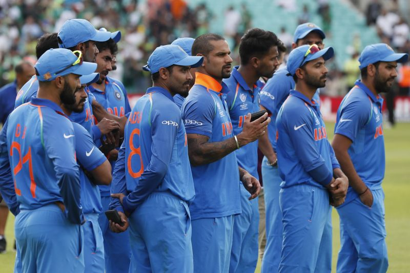 India Players Look Dejected After Losing To Pakistan In The Final Of ICC Champions Trophy 2017