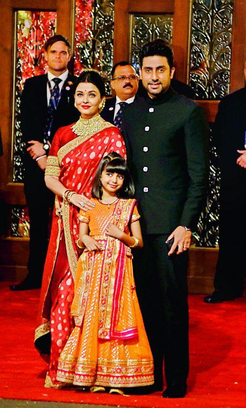 Abhishek Bachchan with Aishwarya and Aaradhya.