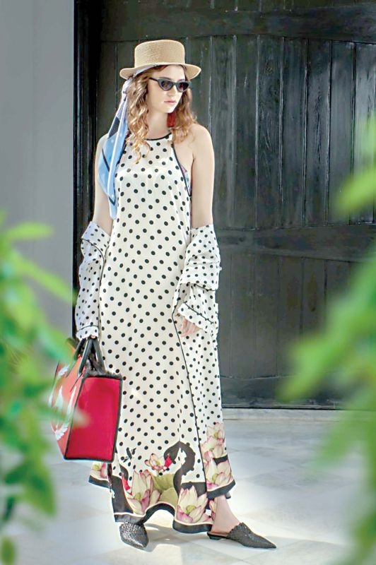 Leda Robe and Raglan Maxi Dress Satin Silk by Raseel Gujral Ansal of Casa Pop