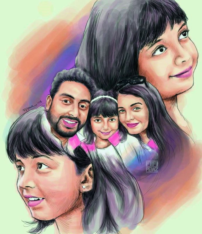 Taking to Instagram, Abhishek shared an illustration by one of his fans