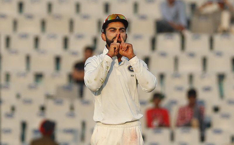 This is how Virat Kohli reacted after Ashwin trapped Ben Stokes lbw on Monday. (Photo: AP)