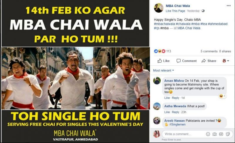 Single ho Tum. (Photo: MBA Chai Wala/Facebook)