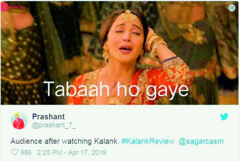 Netizens troll Kalank