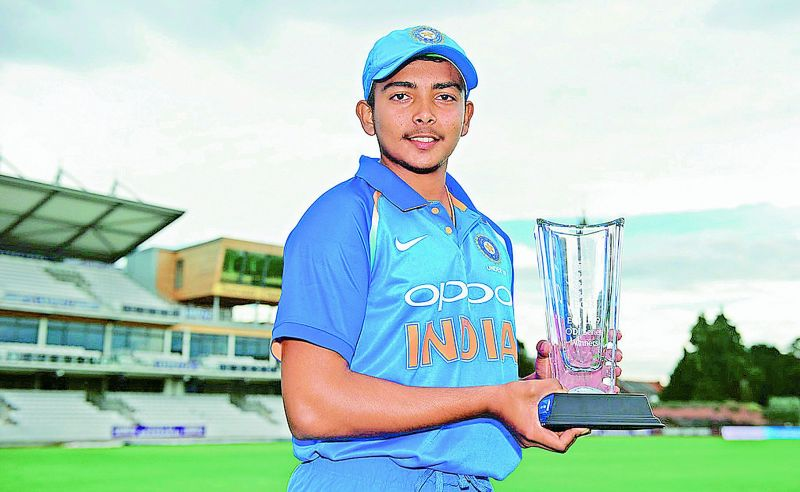 Prithvi Shaw, India U-19  captain