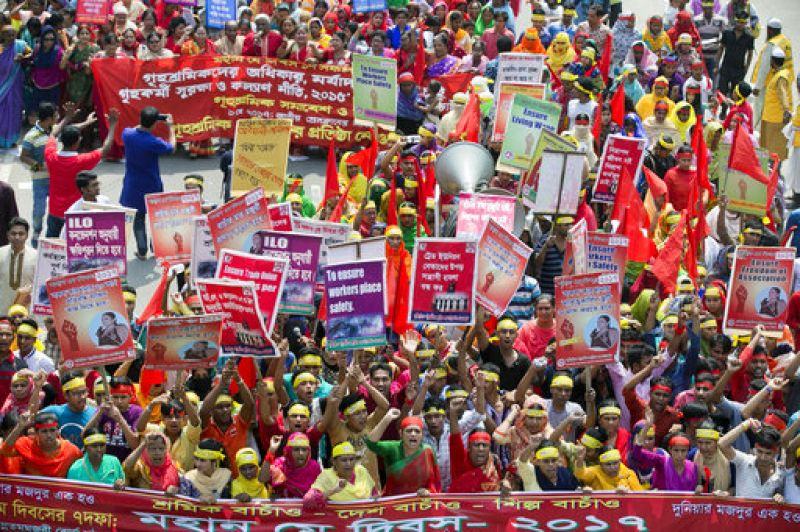 In pics: Distress labourers around the world mark May Day ...