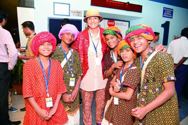 Participants from Rajasthan made their presence felt at the festival