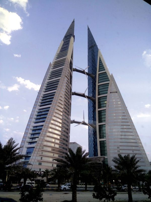 Modern architecture in Manama.