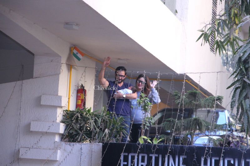 First pictures: Saif, Kareena offer a glimpse of their baby Taimur