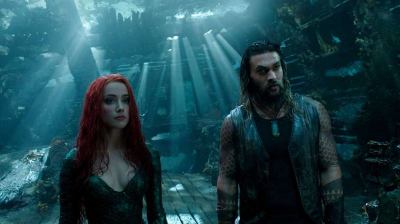 Jason Momoa and Amber Heard in the still from Aquaman. (Picture Courtesy: Warner Bros. Pictures)
