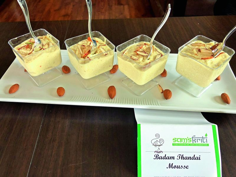 Badam Thandai Mousse