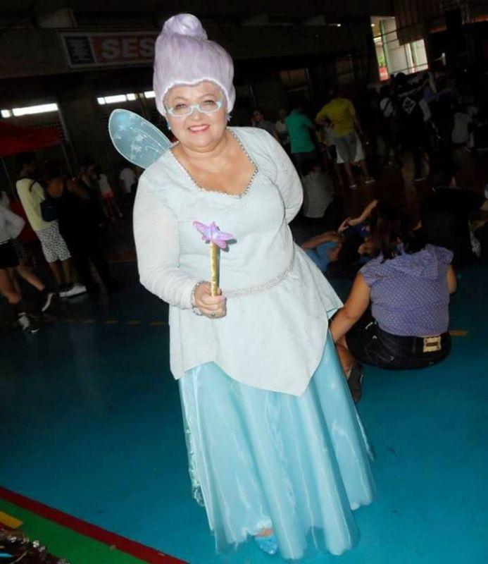 Solange Nascimento Amorim as Fairy Godmother from Shrek (Photo: Facebook)