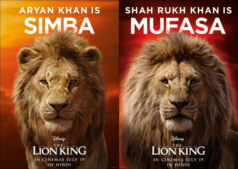 Shah Rukh Khan and Aryan Khan to lend voices for The Lion King.