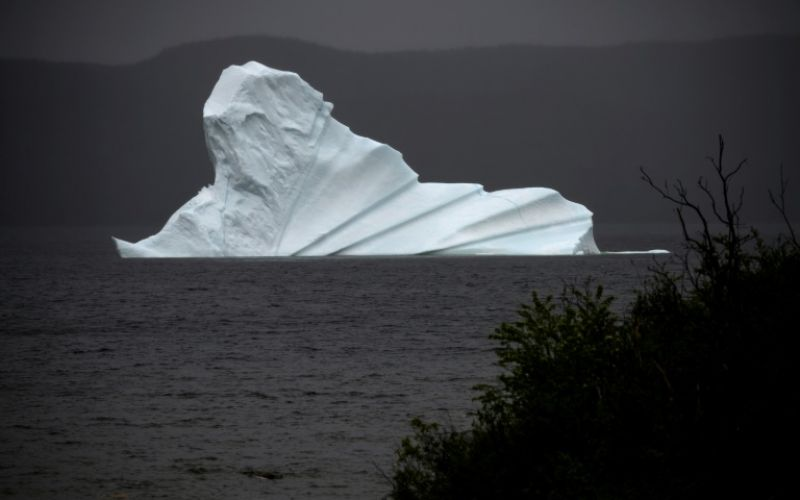 An iceberg floats near King's Point, which is located on Canada's newly christened 'Iceberg Corridor'. (Photo: AFP)