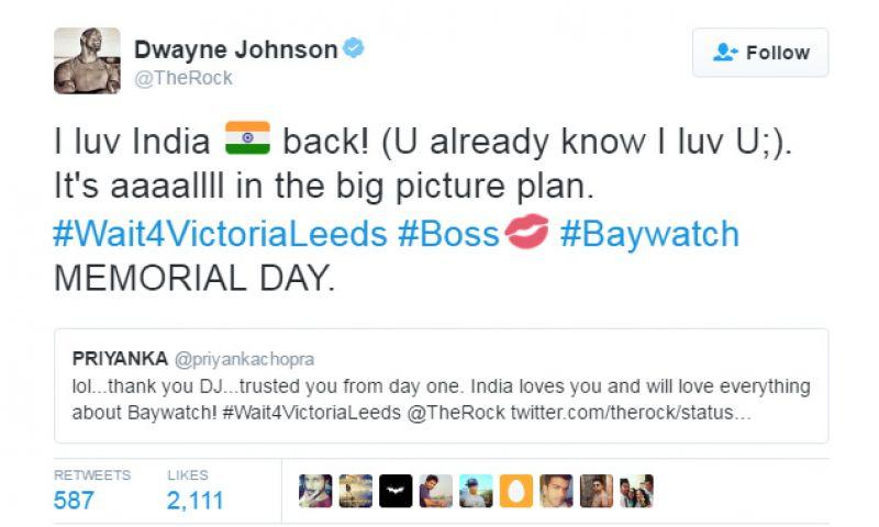 Priyanka Dwayne Baywatch