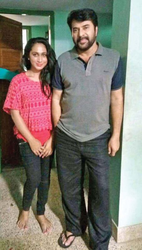 Anjali with Mammootty