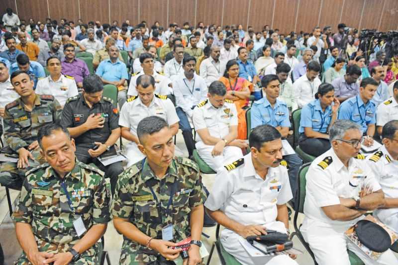 A section of the audience, which included several personnel of armed forces besides Central and state officials. (Photo: DC)