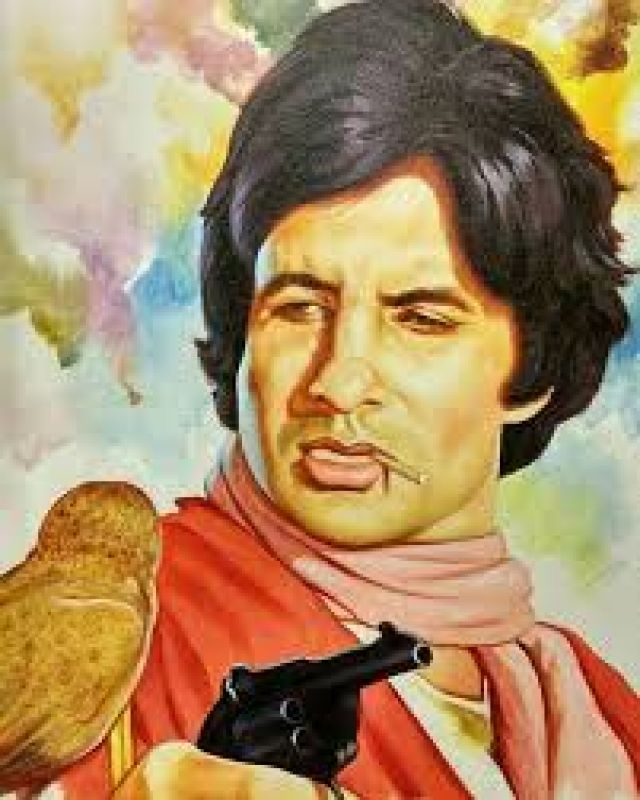 Amitabh Bachchan's iconic Coolie character.