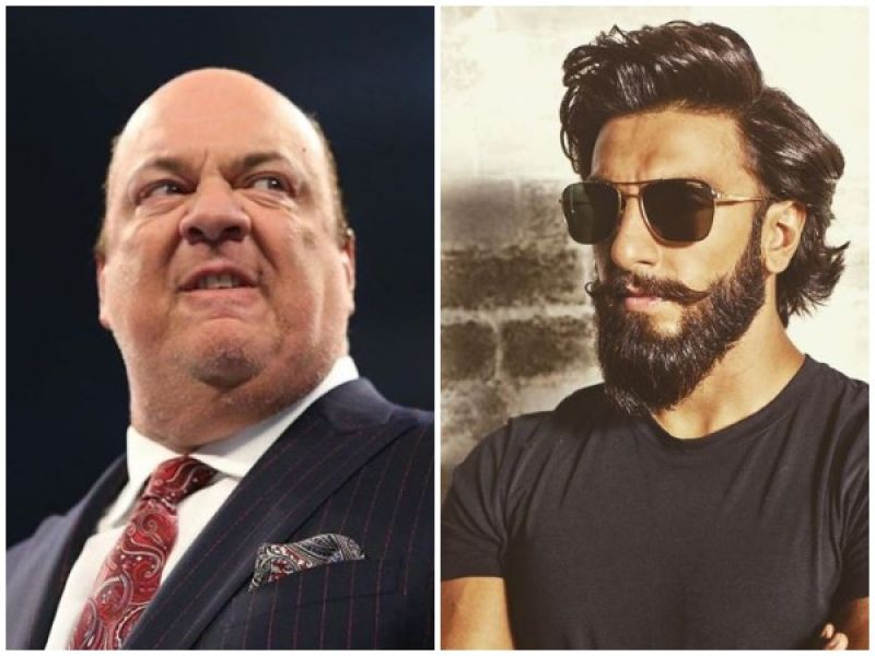 Paul Heyman and Ranveer Singh. (Photo: ANI)