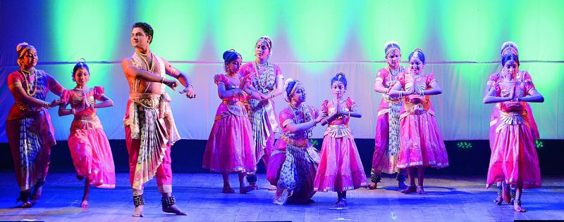 Children performing at the event