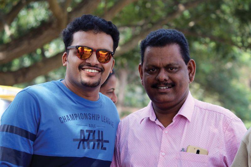 Anish with Mathew Kanamala