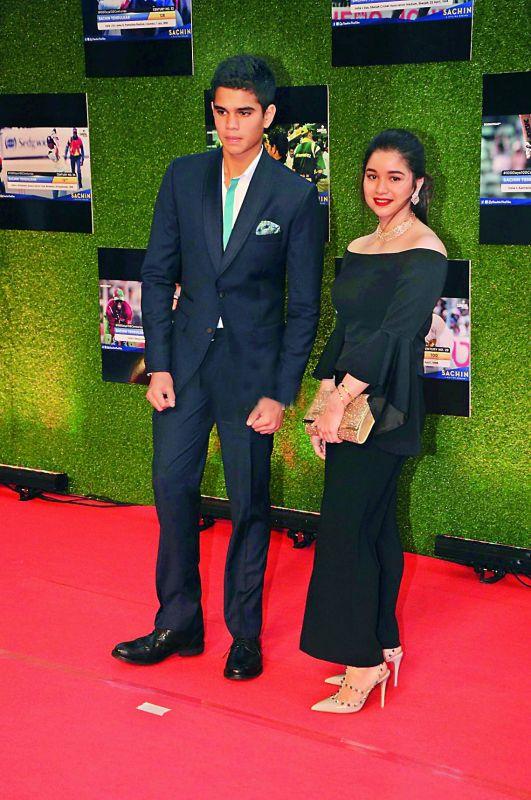 Sara and Arun Tendulkar