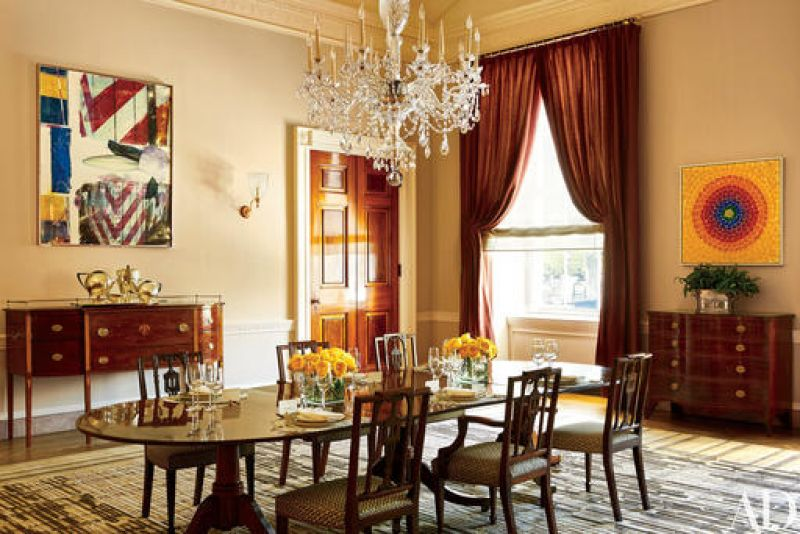 This photo provided by Architectural Digest show the Old Family Dining room in the White House in Washington.