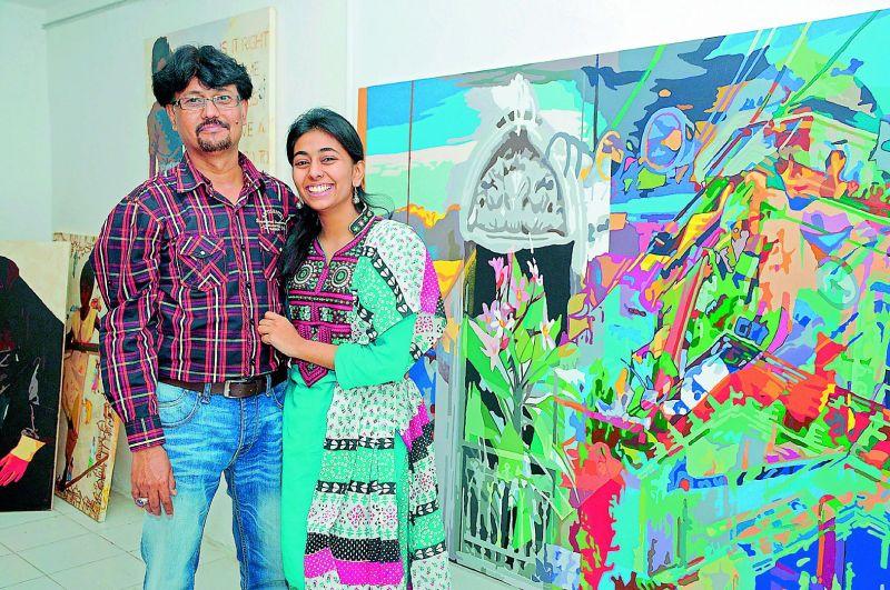 Laxman Aelay with his daughter Priyanka