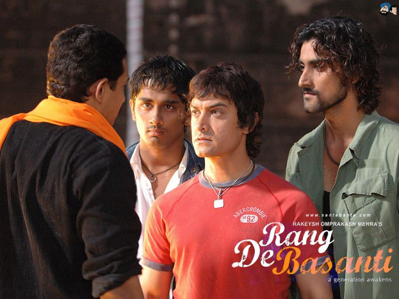 A still from 'Rang De Basanti'.