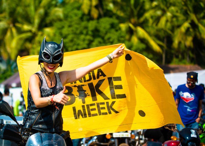 A biker at last year's festival (Photo: (c) India Bike Week)