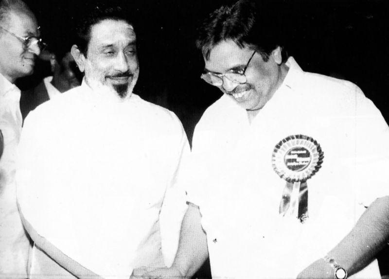 With Tamil star Sivaji Ganesan