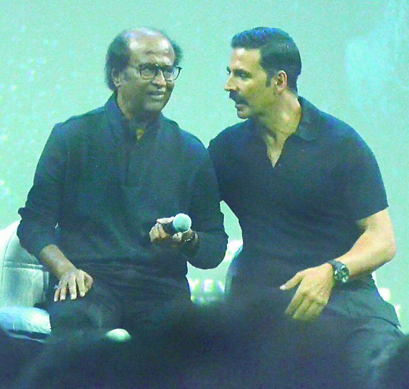 Rajinikanth and Akshay Kumar