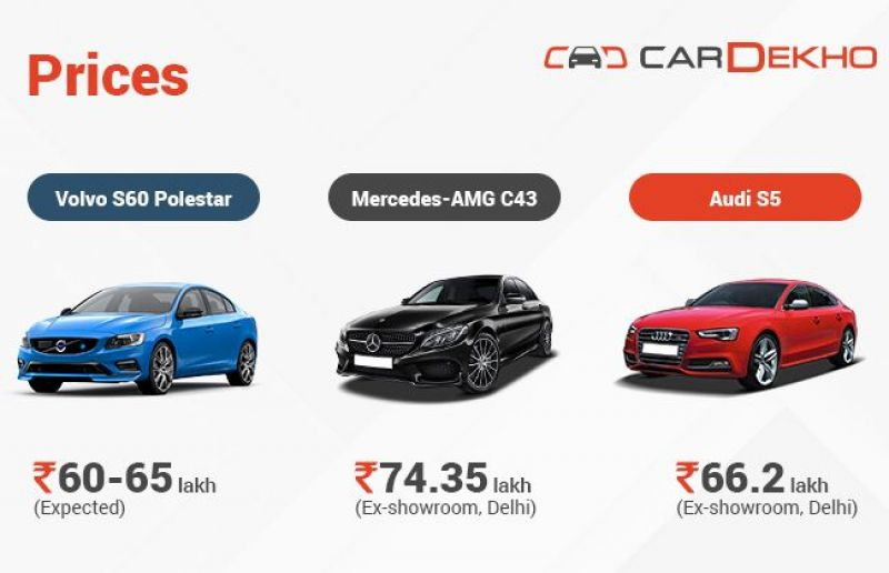 Spec Comparison Of Volvo S60 Polestar Vs Mercedes Amg C43 Vs Audi S5