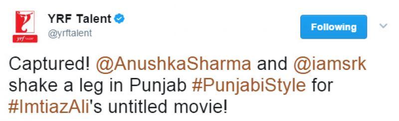 Shah Rukh, Anushka look every bit the Punjabi kudi and munda as they shoot song